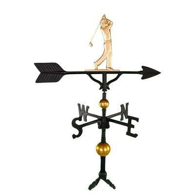32 in. Deluxe Gold Golfer Weathervane