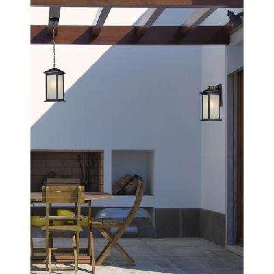 Lawrence 4-Light Outdoor Hanging Black Incandescent Pendant