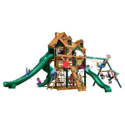Malibu Deluxe II Swing Set with Timber Shield
