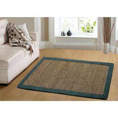 Seagrass Teal 5 ft. x 7 ft. Indoor Area Rug