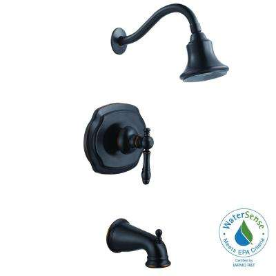 Lyndhurst WaterSense Single-Handle 1-Spray Tub and Shower Faucet in Mediterranean Bronze