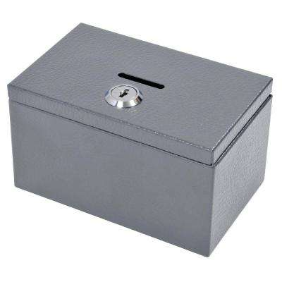 Stamp and Coin Box in Grey