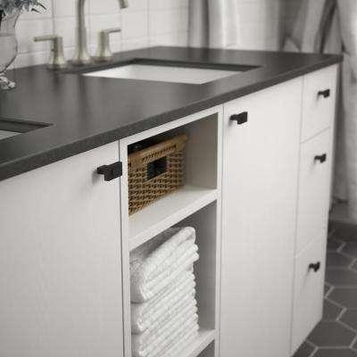 Industrial Insert 1-7/16 in. (36 mm) Flat Black Cabinet Knob