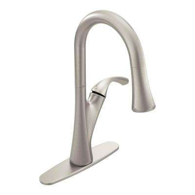 Notch Single-Handle Pull-Down Sprayer Kitchen Faucet with Reflex in Spot Resist Stainless