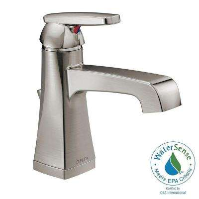 Ashlyn Single Hole Single-Handle High-Arc Bathroom Faucet in Stainless