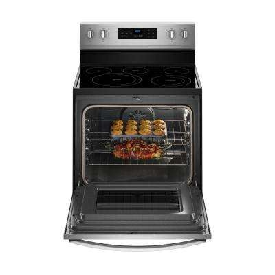 30 in. 5.3 cu. ft. Electric Range with Self-Cleaning Convection Oven in Fingerprint Resistant Stainless Steel