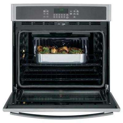 30 in. 5.0 cu. ft. Single Electric Wall Oven Self-Cleaning with Steam in Stainless Steel