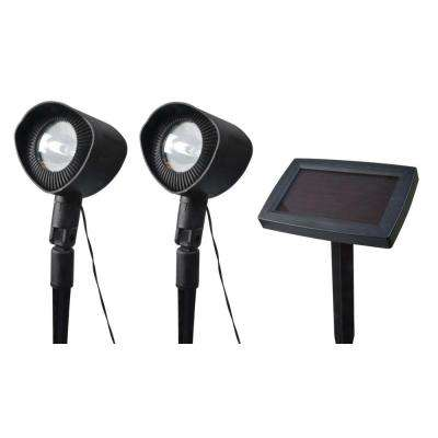 Solar Powered Landscape Spot Light with Remote Solar Panel (2-Pack)