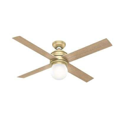 Hepburn 52 in. LED Indoor Modern Brass Ceiling Fan
