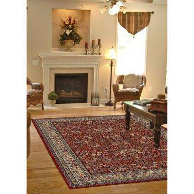 Jewel Sarouk Red 8 ft. x 10 ft. Area Rug