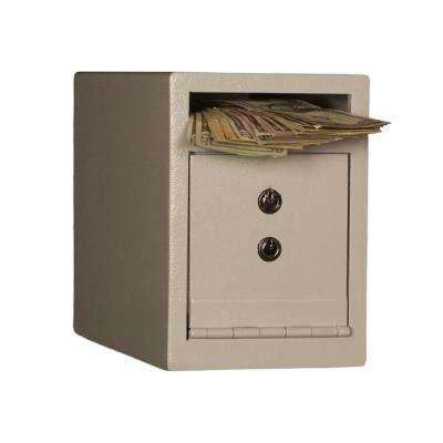 0.23 cu. ft. Steel Deposit Safe with Key Lock, White