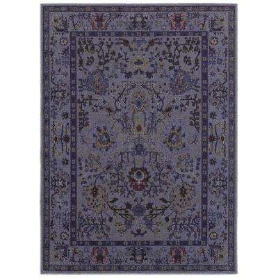 Overdye Purple 9 ft. 6 in. x 12 ft. 2 in. Area Rug