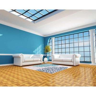 Coral Reef Blue 5 ft. x 7 ft. Indoor Area Rug