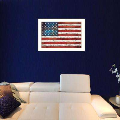 "20 in. x 26 in. ""Pledge of Allegiance"" by Marla Rae Printed Framed Wall Art"