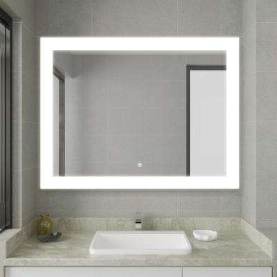 30.00 in. x 39.40 in. Frameless LED Light Wall Bathroom Mirror