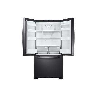 33 in. W 19.4 cu. ft. French Door Refrigerator in Black Stainless