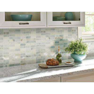Greecian White Brick 12 in. x 12 in. x 10 mm Honed Marble Mesh-Mounted Mosaic Tile (10 sq. ft. / case)
