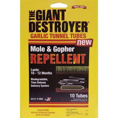 Giant Destroyer 0.21 oz. Mole and Gopher Garlic Tunnel Tubes (10-Pack)