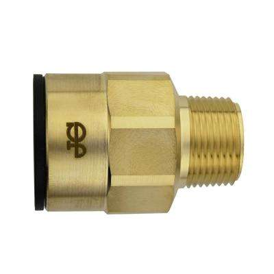 1 in. CTS x 3/4 in. NPT Brass ProLock Push-to-Connect Male Connector