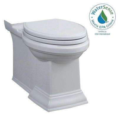 Town Square Right Height Elongated Toilet Bowl Only in White