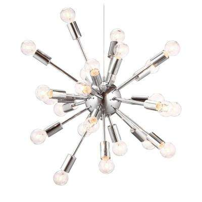 Pulsar 21.5 in. Chrome Ceiling Lamp