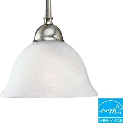 Avalon Collection 1-Light Brushed Nickel Mini Pendant