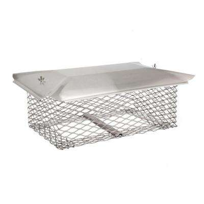 20-1/2 in. x 13 in. Chimney Cap in Stainless Steel