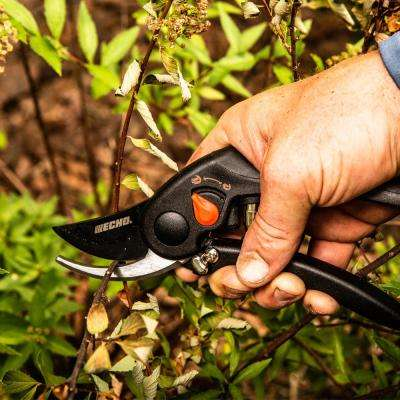 Adjustable Bypass Hand Pruner with Teflon Coated Steel Blades