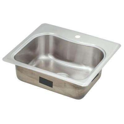Staccato Drop-In Stainless Steel 25 in. 1-Hole Single Basin Kitchen Sink