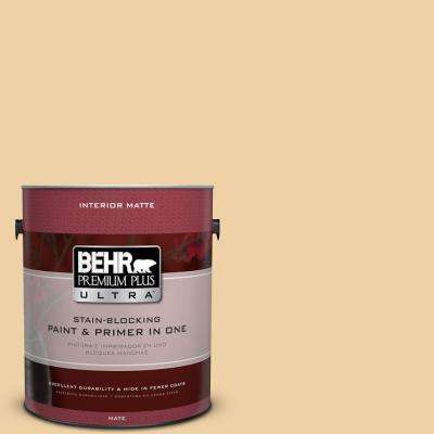 Home Decorators Collection 1 gal. #HDC-CT-01 Amber Moon Flat/Matte Interior Paint