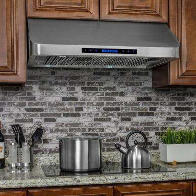 36 in. Under Cabinet Range Hood in Stainless Steel with Touch Controls and Remote Control