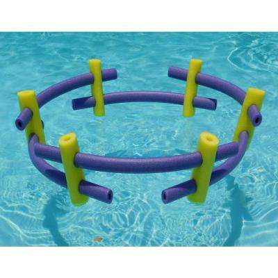 Yellow and Purple Foam Custom Connecting Pool Float (12-Pack)
