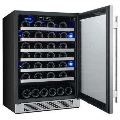 54-Bottle 24 in. Built-In Wine Cooler with Argon Filled Double Paned Glass