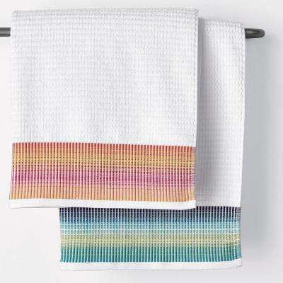 Ripple Cotton Fingertip Towel (Set of 2)
