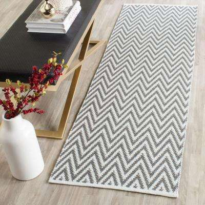 Montauk Gray/Ivory 2 ft. x 7 ft. Runner Rug