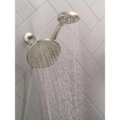 HydroRoller Massage 3-Spray 7.5 in. Dual Handheld Shower Head with Body Spray in Spot Resist Brushed Nickel
