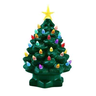 10 in. Green Nostalgic Christmas Tree with LED's