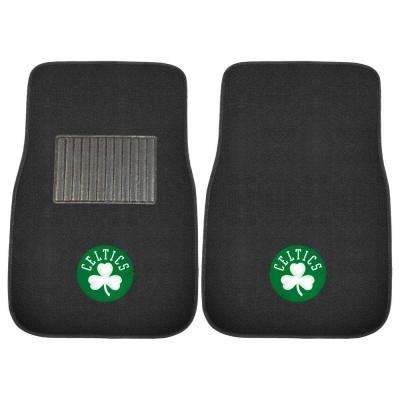 NBA Boston Celtics 2-Piece 17 in. x 25.5 in. Carpet Embroidered Car Mat