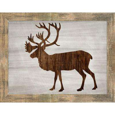 "19 in. x 24 in. ""Wood Wildlife III"" by Isabella Burton Framed Gallery Wrapped Canvas Wall Art"