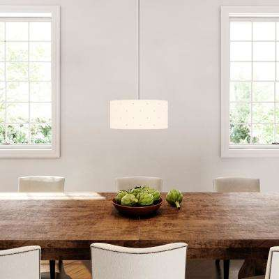 1-Light Chrome Hanging Large Pendant