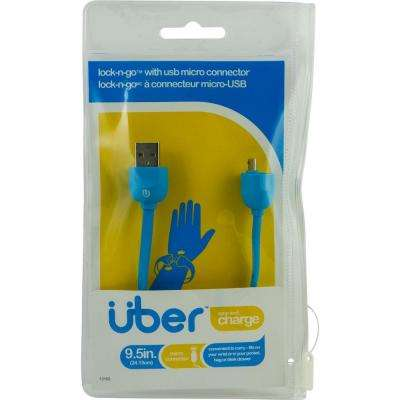 Lock & Go Micro USB Sync Charge Cable Bracelet - Blue