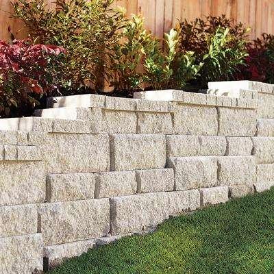 RockWall Small 6.75 in. L x 11.63 in. W x 4 in. H Limestone (144-Piece/46.5 sq. ft./Pallet)