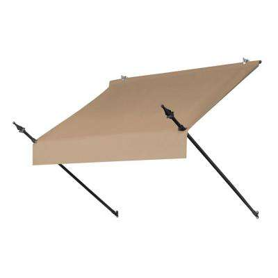 4 ft. Designer Manually Retractable Awning (36.5 in. Projection) in Sand