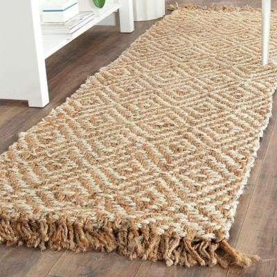 Natural Fiber Beige/Ivory 3 ft. x 10 ft. Runner Rug