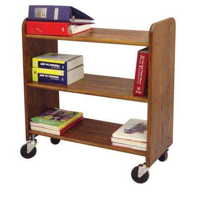 14 in. Birch Book Truck