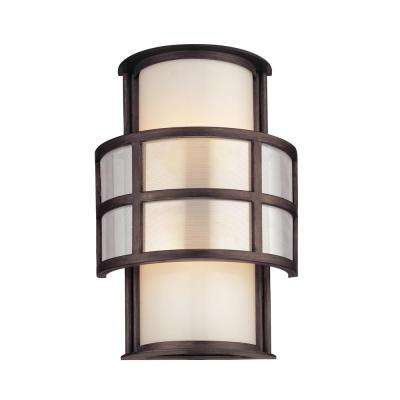 Discus 2-Light Graphite Outdoor Wall Mount Sconce