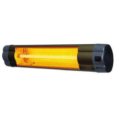 3000-Watt Electric Mid-Wave Infrared Heater with Remote Control
