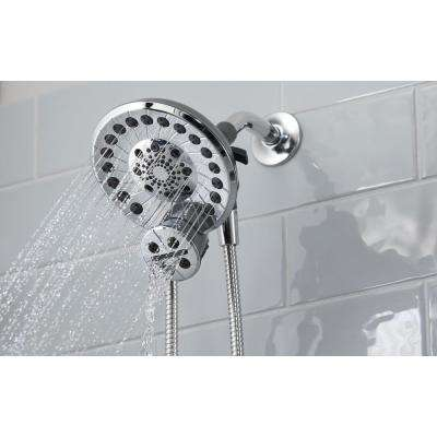 SideKick Two-in-One 5-Spray Dual Showerhead and Handheld Showerhead with Pause in Chrome