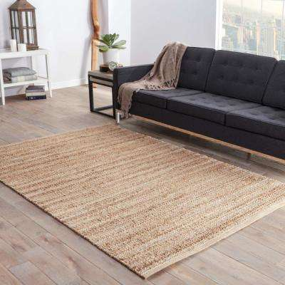 Natural Tan 9 ft. x 12 ft. Solid Area Rug