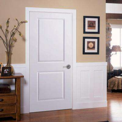 Solidoor Smooth 2-Panel Solid Core Primed Composite Interior Door Slab